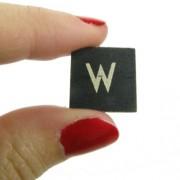 Magnético-Figura decorativa de la letra W