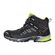 Meindl SX 1.1 Mid GTX Herren Gr. 10½ - schwarz grau / schwarz/lemon - Sportliche Hikingstiefel
