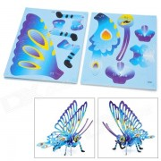 Le Ling Si PJ3102 Desarrollo intelectual DIY 3D Puzzle Juego - Mariposa Insecto