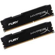 2x8GB DDR3 PC12800 1600MHz Kingston HyperX Fury Black HX316C10FBK2/16 KIT (16GB) memoria