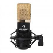 Auna MIC-900BG Micrófono de condensador USB negro/dorado