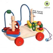Jaibros Pole trailer beads around learning abacus toy for kids