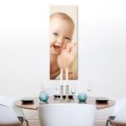 Foto op aluminium - wit (30x80cm)