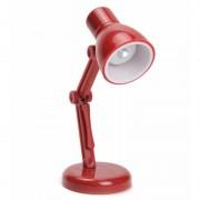 LED boekenlampje Retro rood