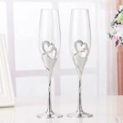 Esküvői pezsgőspohár /díszdobozban/