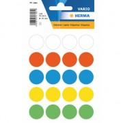 Sticker etiketten gekleurd rond 19 mm