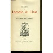 Oeuvres De Leconte De Lisle Poème Barbares