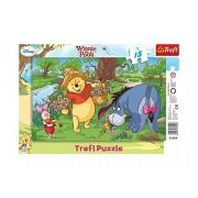 Trefl - Puzzle con marco Winnie the Pooh de 15 piezas (31129)