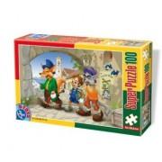 D-Giocattoli Fairytales 1 Super Jigsaw Puzzle (100 Pezzi)