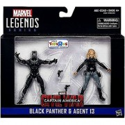 Marvel Legends Captain America: Civil War Black Panther and Agent 13 Action Figures 3.75 Inches