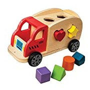 New Classic Toys Shape Sorter Truck with 6-Shaped Blocks
