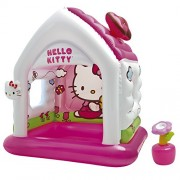 Intex 48631NP - Il cottage gonfiabile di Hello Kitty, 137 x 109 x 122 cm