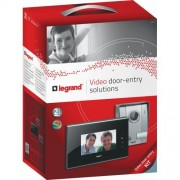 Kit videointerfon cu ecran tactil 7'' negru Legrand 369310