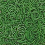 Elastice Rainbow Loom - Opac - Verde Inchis