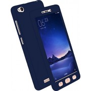 Johra Full Body Front & Back 360 Protective Case Cover For Oppo A57 - Blue