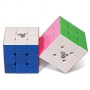 Playwin 3X3 Bisheng Stickerless Speed Cube Two Color Collection(Solid & Pink)