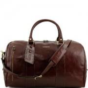 Grand Sac de Voyage en Cuir Tuscany Leather Marron