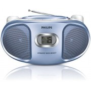 Micro Sistem Philips AZ105N/12, CD Player (Albastru)