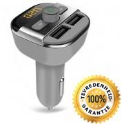 Beste kwaliteit - 5 in 1 Draadloze Universele Bluetooth Carkit Auto MP3 Speler / FM transmitter / LED Display / Handsfree bellen / 2 x High Speed USB Oplader / SD,TF Card Ondersteuning / USB Stick