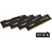 Memorie HyperX Fury Black 16GB Kit 4x4GB DDR4 2666MHz CL15