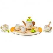Hape - Playfully Delicious - Wooden Play Tea Set for Two