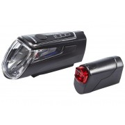 Trelock LS 560 I-GO CONTROL / LS 720 REEGO Beleuchtungsset schwarz Batteriebeleuchtung Set