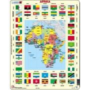 Puzzel Afrika met vlaggen | Larsen