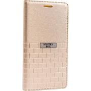 Purple Eyes Brick Faux Leather Flip Case for Lenovo S650 (Gold)