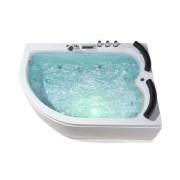 Whirlpool Doppel Badewanne Palermo RECHTS für 2 Personen mit 15 Massage Düsen...