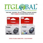 CANON PG 740 Black & CL 741 Color [Set of 2 Cartridge] -Special ITGLOBAL Combo With Scratch & Win Reward Offer - From ITGLOBAL