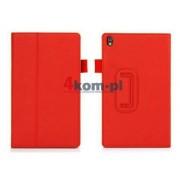 Etui stojak eko skóra czerwony do Lenovo Tab S8-50 - Czerwony