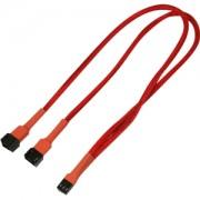 Cablu adaptor Y Nanoxia 3-pini Molex, 30cm, red/black