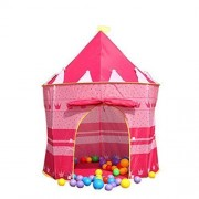ZJKC® Girl Pink Princess Castle House Play 2 Kids Tent, 2.2lbs, 53.1'' x 41.3'' (H x D) , Fairy Tale Tent for Kids Play Outdoor Camping