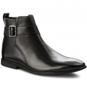 Ботуши CLARKS - Bampton Mid 261274307 Black Leather
