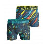 Björn Borg Shorts 2er-Pack Color Grafik - Blau XL