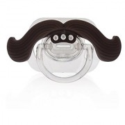 Love My - The Gentleman Mustache Pacifier (Brown) for Newborn Toddler Boys and Girls - Perfect Gifts for Your Lovely B