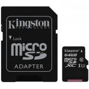Micro SD Card, 64GB, KINGSTON microSDXC, Class10, UHS-I (SDC10G2/64GB)