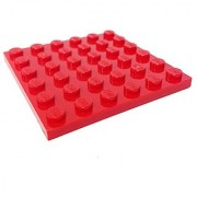 Lego Parts: Plate 6 x 6 (Red)
