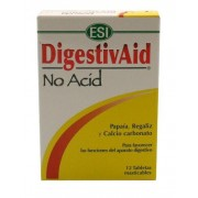 DIGESTIVAID NO ACID 12 TABLETAS MASTICABLES