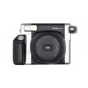 Fujifilm Instax Wide 300 Cámara analógica instantánea (pantalla LCD, 62 mm × 99 mm, f = 95 mm, 1:14), color negro y plateado