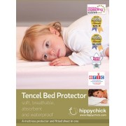 Hippychick Tencel Fitted Mattress Protector, 70 x 140 cm Cot/Bed - Pale Lemon