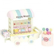 Japan Doll House - Sylvanian Families Shop Colorful Candy Wagon *AF27*
