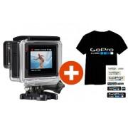 GoPro HERO 4 Silver Edition + Absolútne jedinečné LED SVIETIACE Tričko GOPRO + sada nálepiek + 15% zľava na nákup DOD kamery do auta ako darček pre Vás. Pozor ponuka je limitovaná!!!
