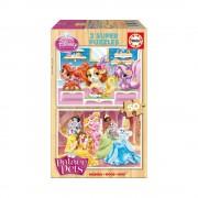Educa Disney Palota Kedvencek fa puzzle, 2x50 darabos