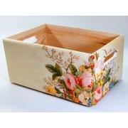 Ladita lemn model floral 7357