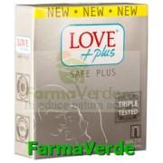 Love Plus Safe PLus Prezervative 3 bucati