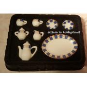 Serviciu de ceai portelan - set de 8 piese - miniatura