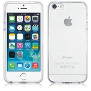 iPhone 5 / 5g / 5s, Transparent Clear Tpu Soft Rubber Gel Skin Case Cover + Front & Back Screen Protector.