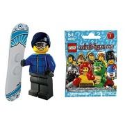 8805 Snowboarder Mini Fig Block Building Blocks Lego Mini Figure Series 5 Side B Lego Minifigures #