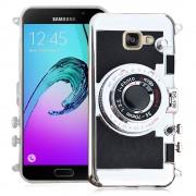 Samsung Galaxy A5 (2016) Sm-A510f A510m A510fd A5100 A510y (Non Compatible Galaxy A5 (2015)): Housse Coque Silicone Tpu Motif Appreil Photo Élégant, Camera Case, Support Vidéo + Mirroir - Noir